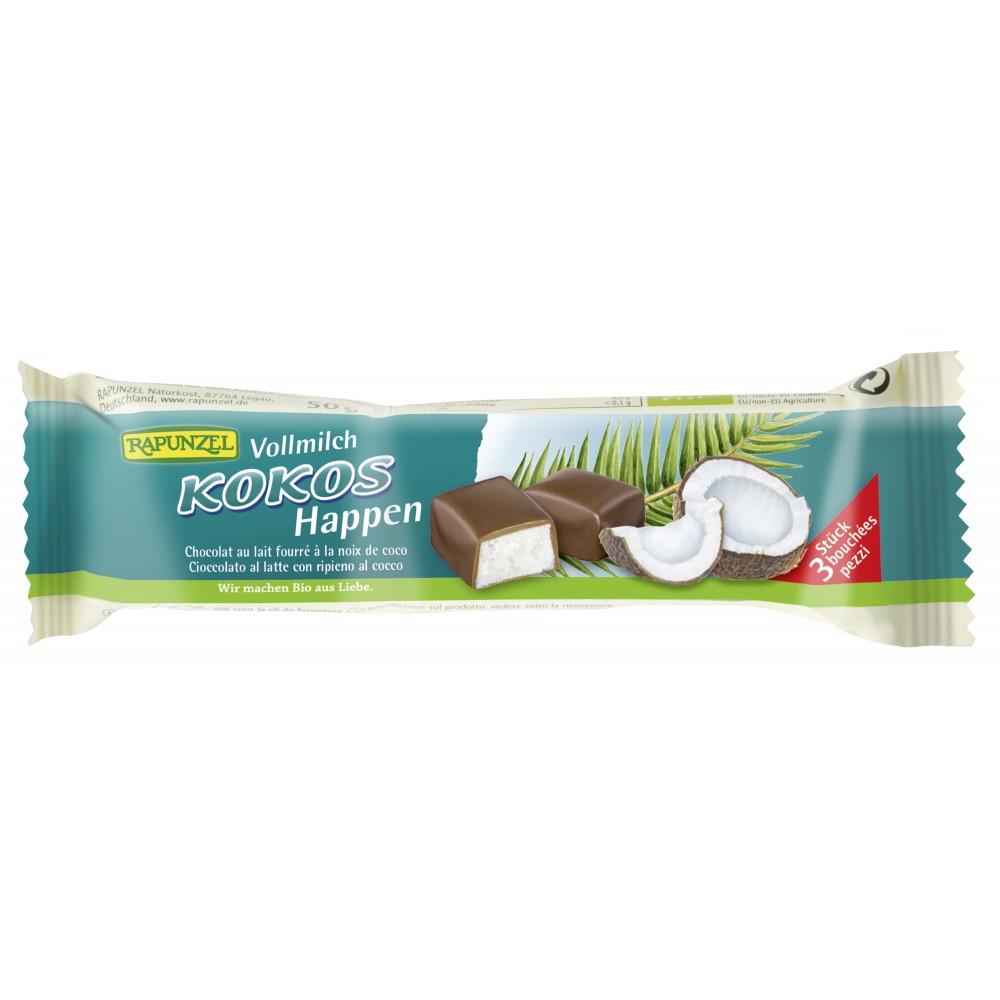 Baton de cocos cu glazura din lapte integral