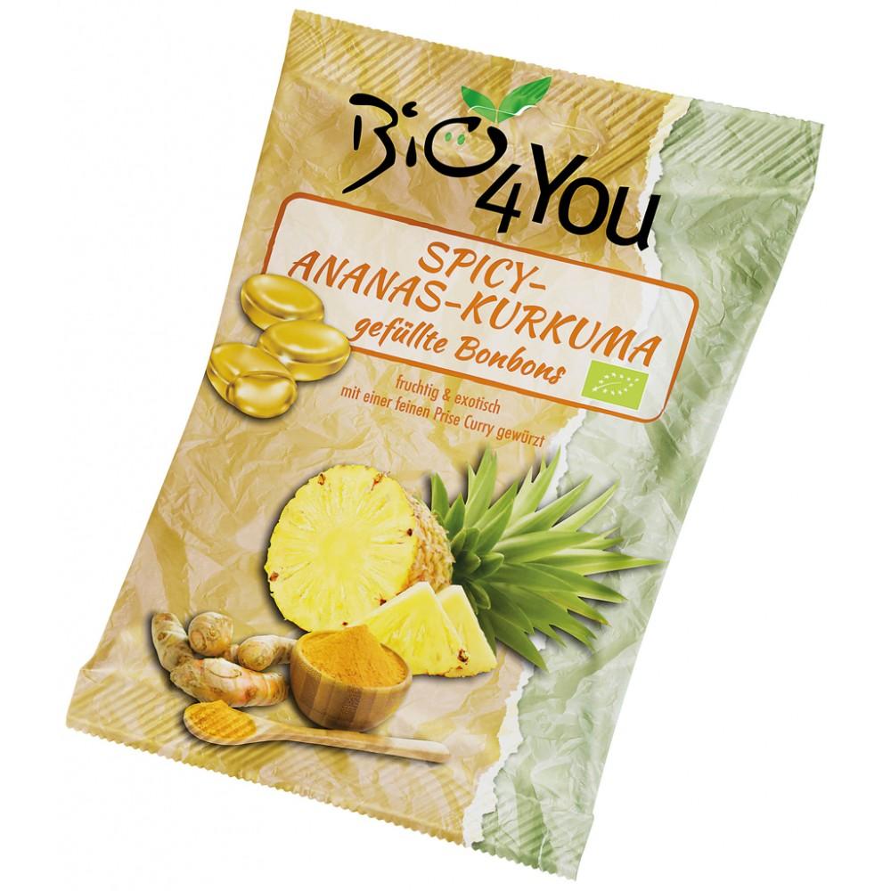 Bomboane picante cu ananas si curcuma FARA GLUTEN