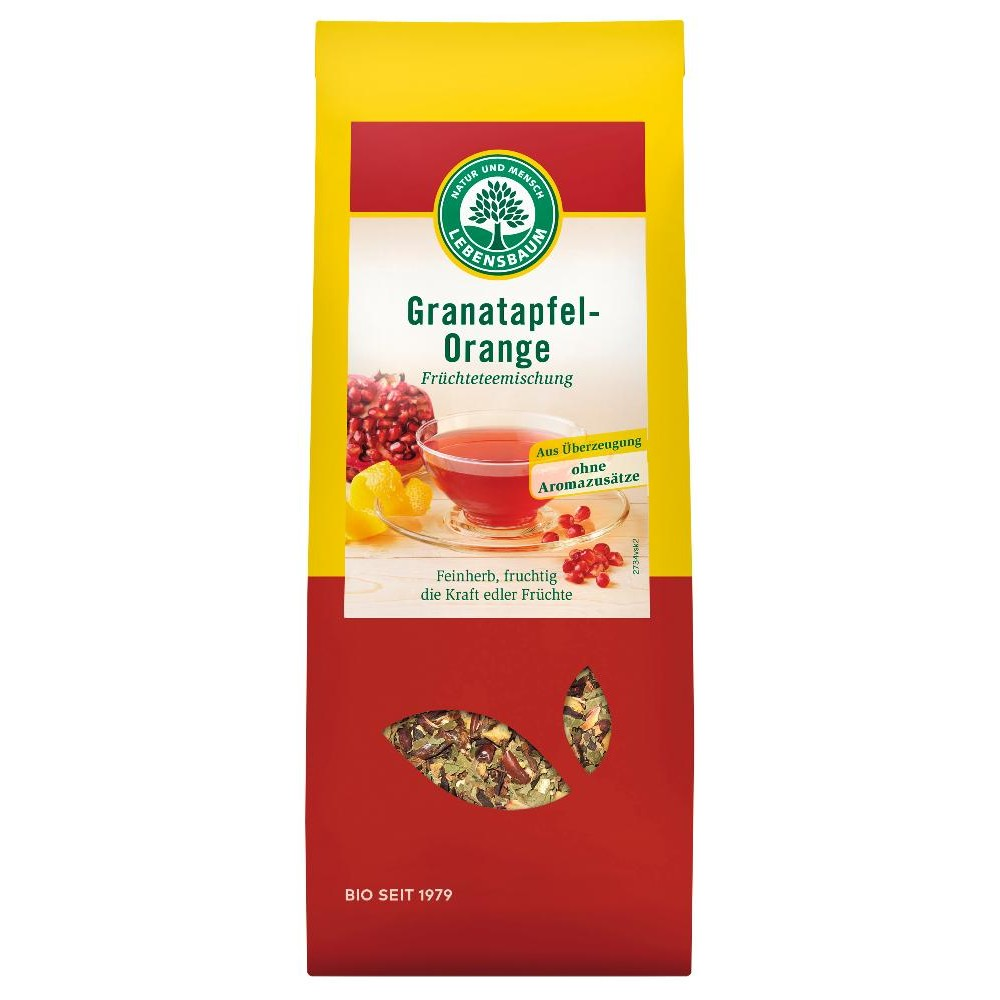 Ceai cu rodie si portocala ecologic