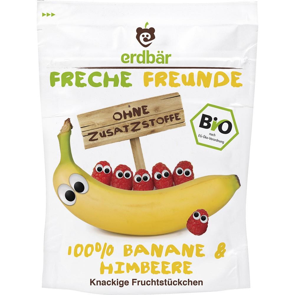 Chipsuri de fructe banane si capsuni bio pentru copii