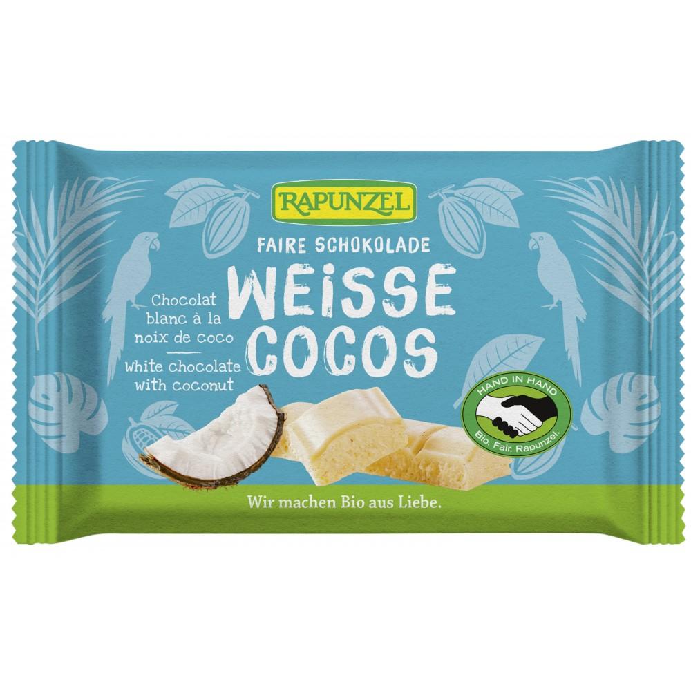 Ciocolata alba Cristalino cu bucatele de cocos