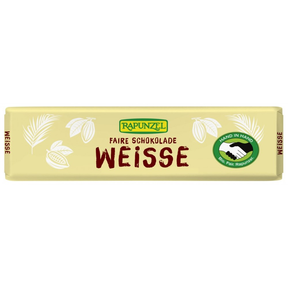 Ciocolata bio albă mică HIH
