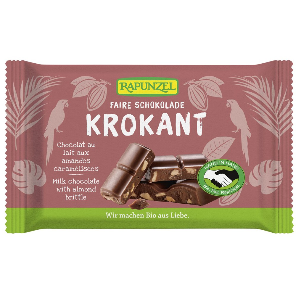 Ciocolată Bio Cristallino cu migdale crocante HIH