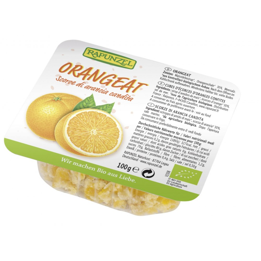 Coaja bio de portocale fără zahăr