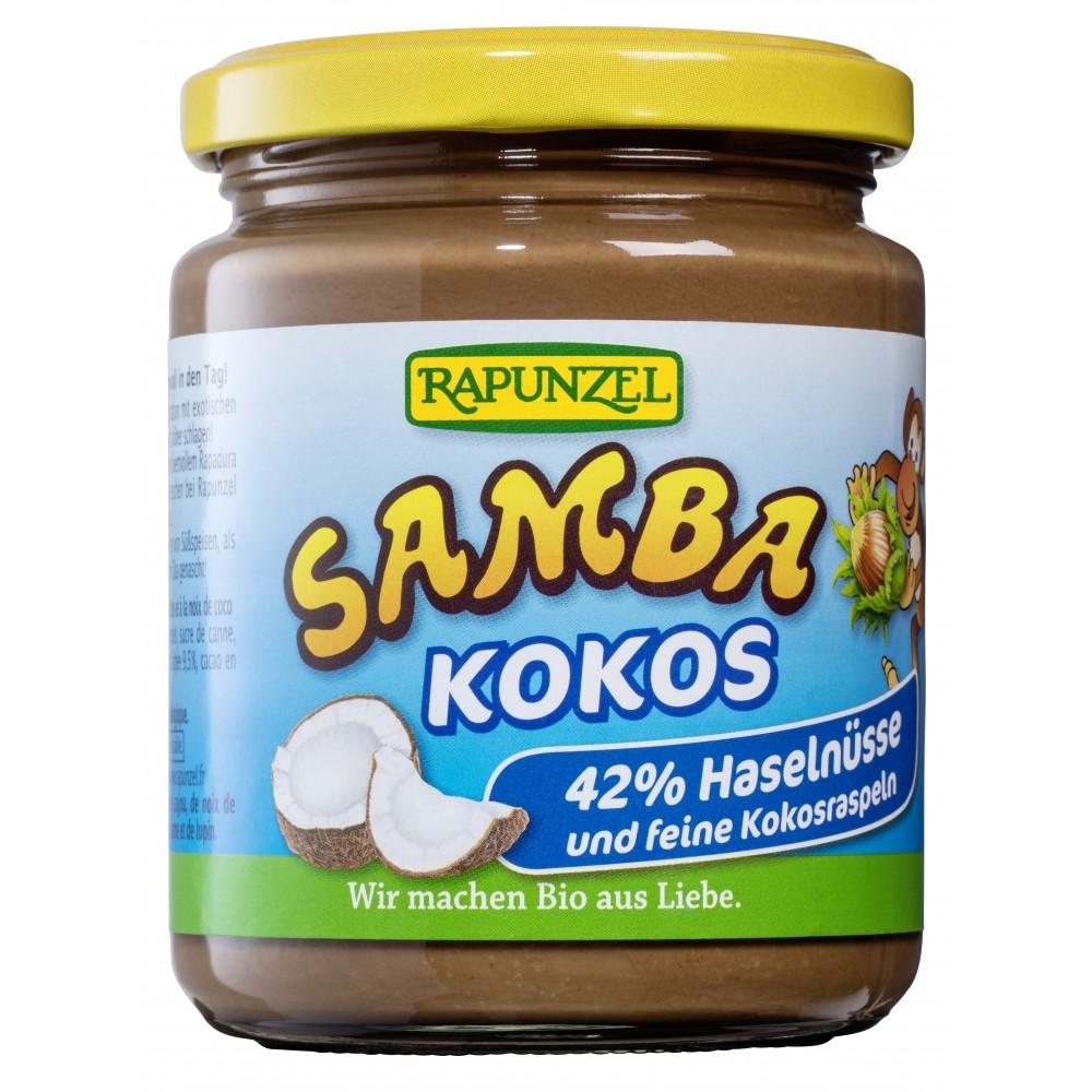 Crema de ciocolata cu alune si cocos Samba