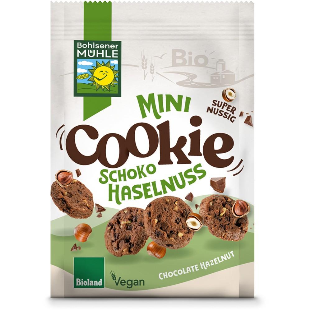 Mini biscuiti cu ciocolata si alune