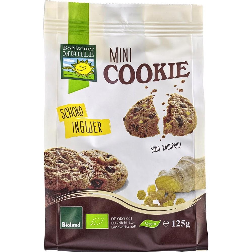 Mini biscuiti vegani cu ciocolata si ghimbir