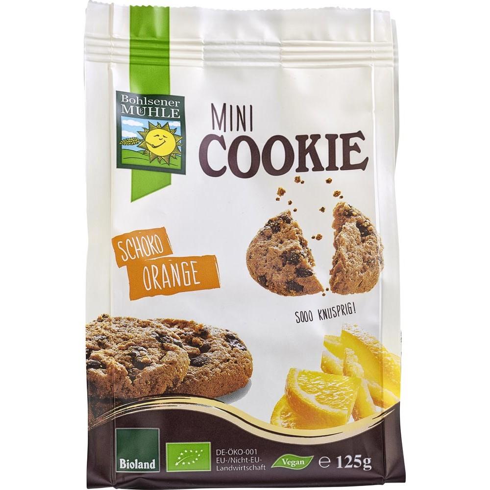 Mini biscuiti vegani cu ciocolata si portocale