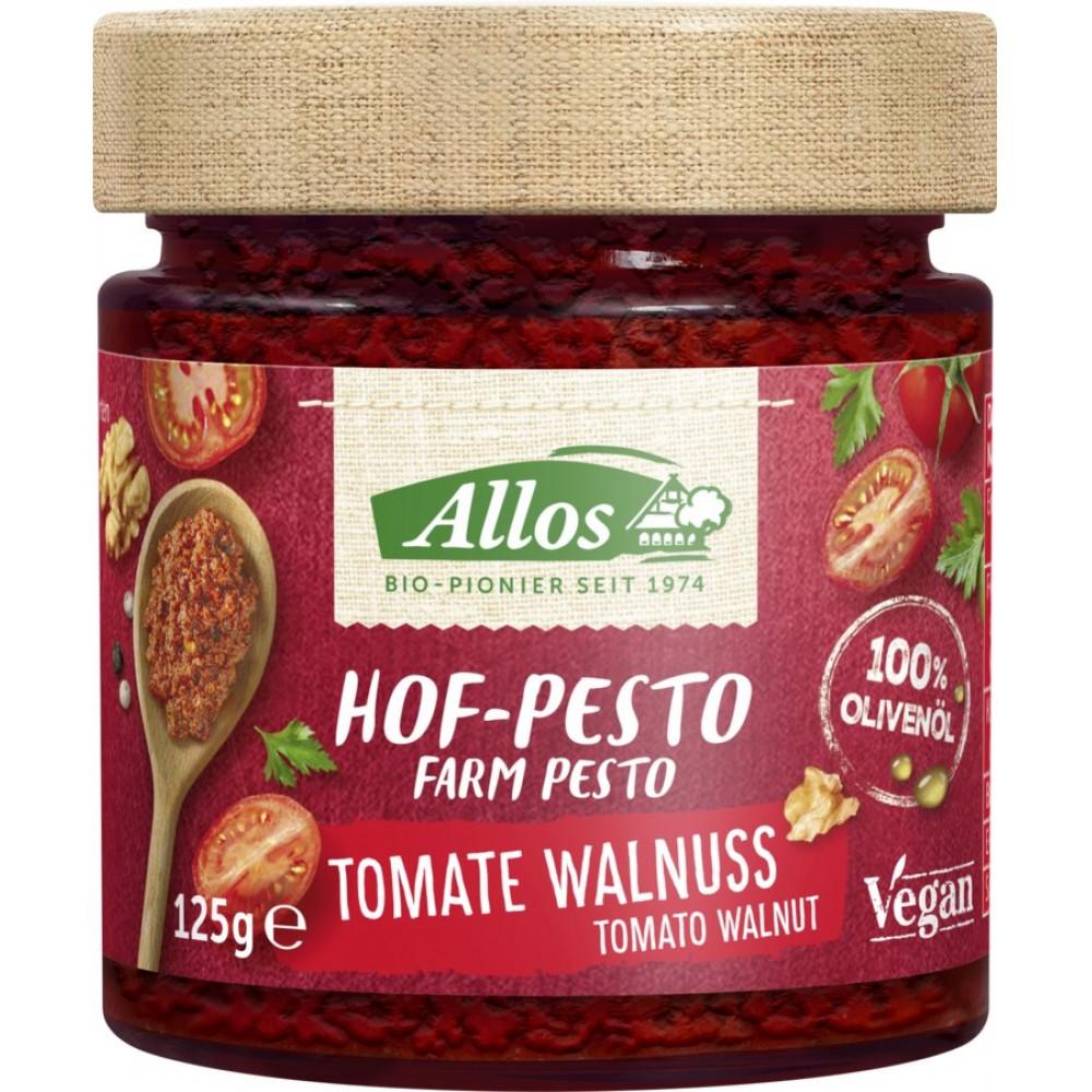 Pesto bio cu tomate si nuci
