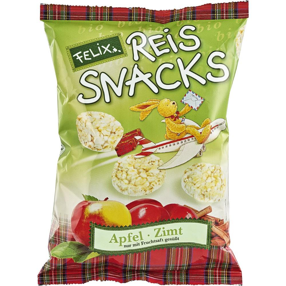 Snacks din orez cu mere si scortisoara FARA GLUTEN