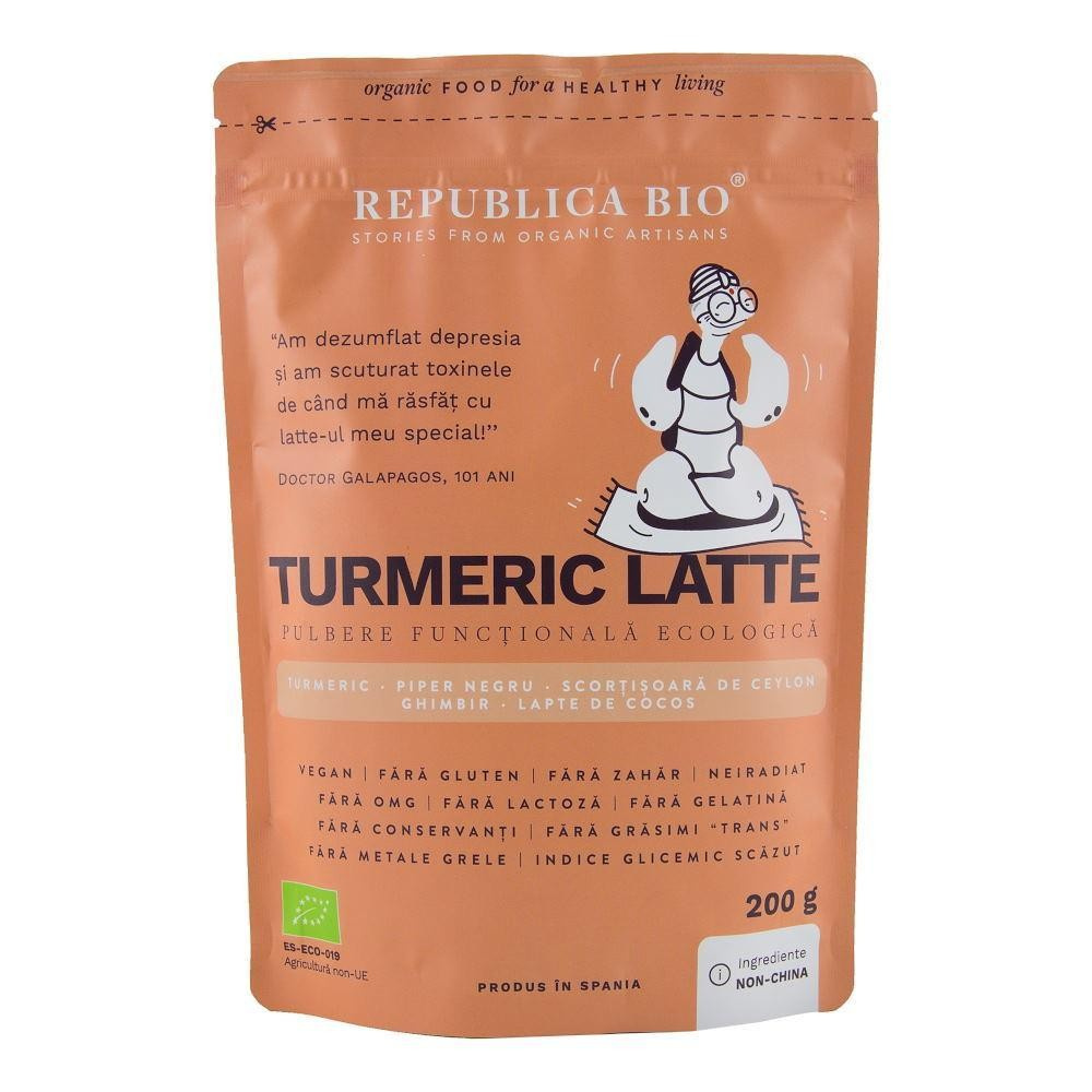 Turmeric Latte, pulbere functionala ecologica