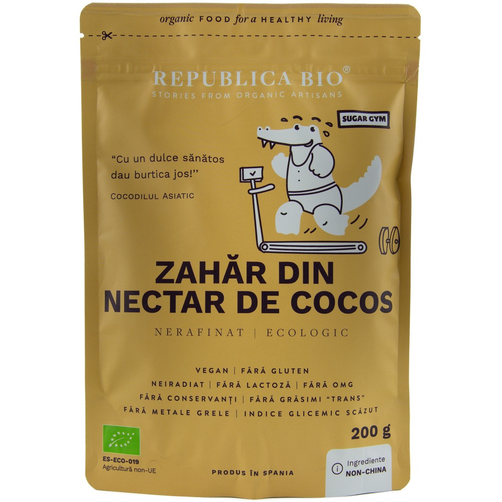 Zahar din nectar de cocos pur